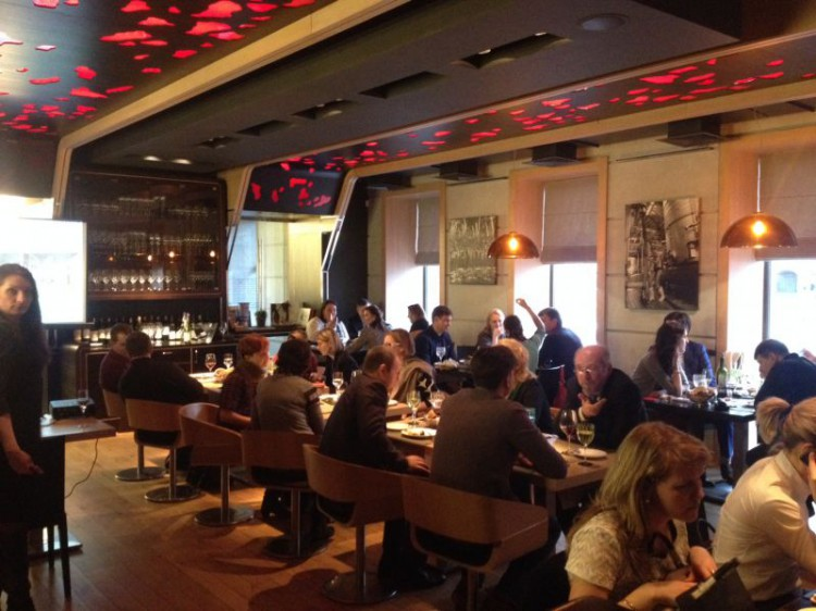 8th Byuromebel business dinner with partners and companies in the restaurant Grand Cru